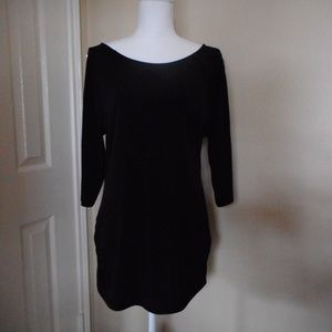 INC black tunic with ruching